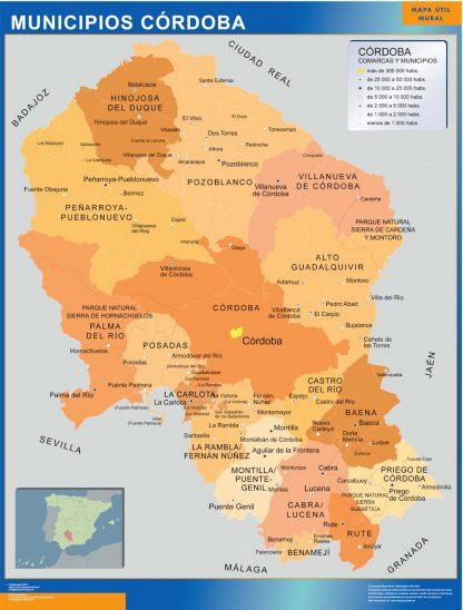 Mapa Cordoba por municipios gigante