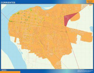 Mapa Corrientes en Argentina gigante
