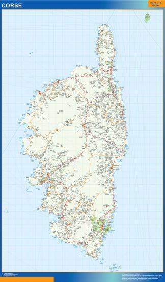 Mapa Corse en Francia gigante