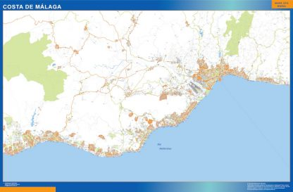Mapa Costa Malaga gigante