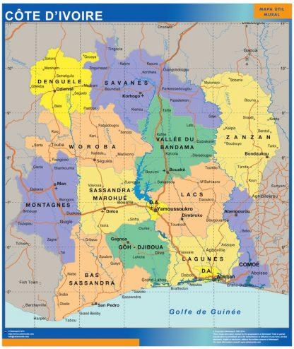 Mapa Costa Marfil gigante