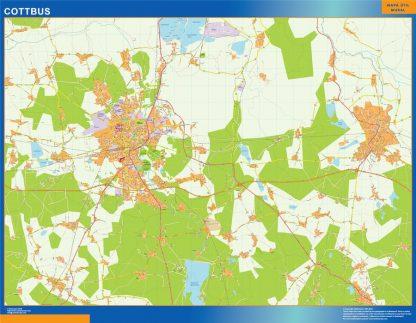 Mapa Cottbus en Alemania gigante