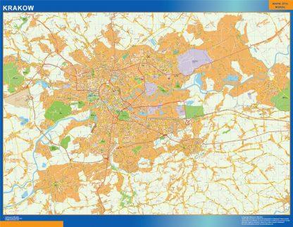 Mapa Cracovia Polonia gigante