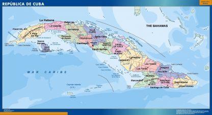 Mapa Cuba gigante