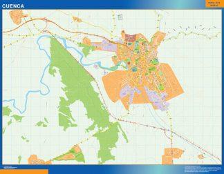 Mapa Cuenca callejero gigante