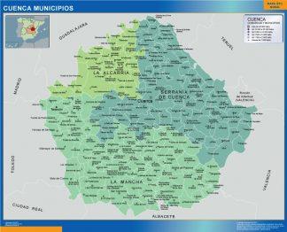 Mapa Cuenca por municipios gigante