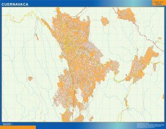 Mapa Cuernavaca en Mexico gigante