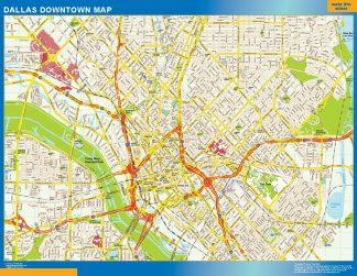 Mapa Dallas downtown gigante