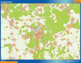 Mapa Darmstadt en Alemania gigante