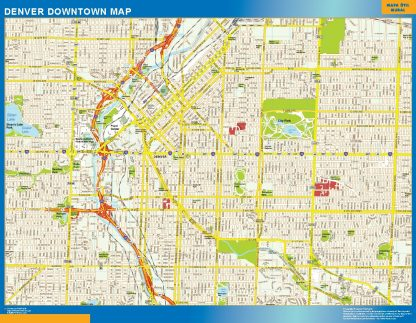 Mapa Denver downtown gigante
