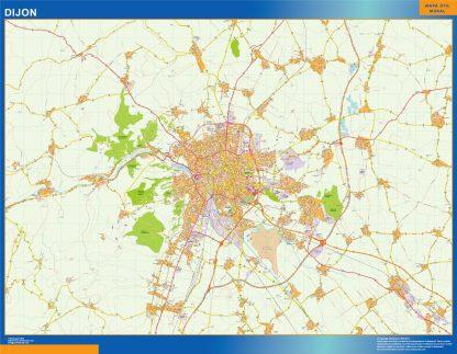 Mapa Dijon en Francia gigante