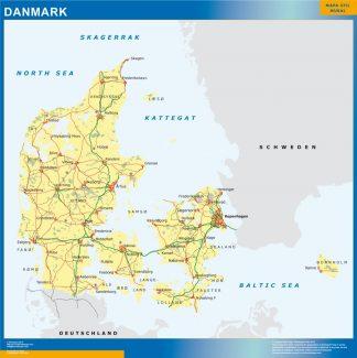 Mapa Dinamarca gigante