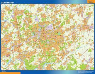 Mapa Dortmund en Alemania gigante