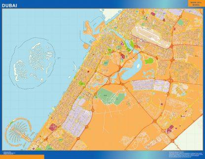 Mapa Dubai gigante