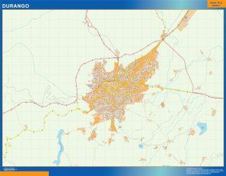 Mapa Durango en Mexico gigante