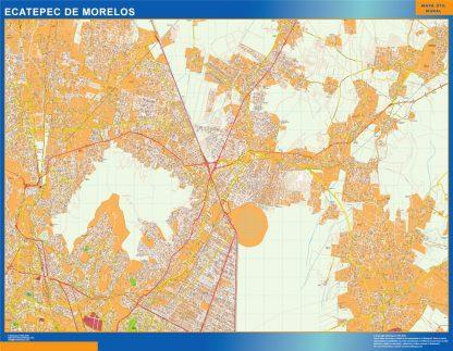 Mapa Ecatepec De Morelos en Mexico gigante