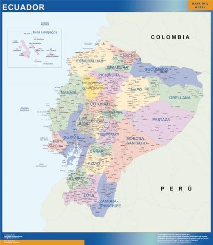 Mapa Ecuador gigante