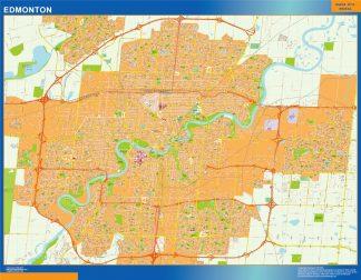 Mapa Edmonton en Canada gigante