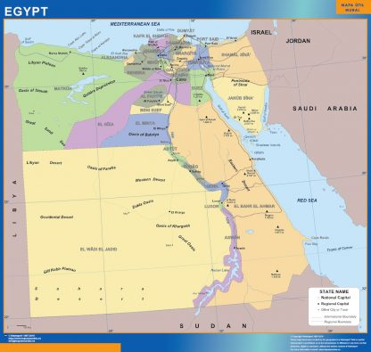Mapa Egipto gigante