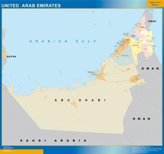 Mapa Emiratos Arabes Unidos gigante