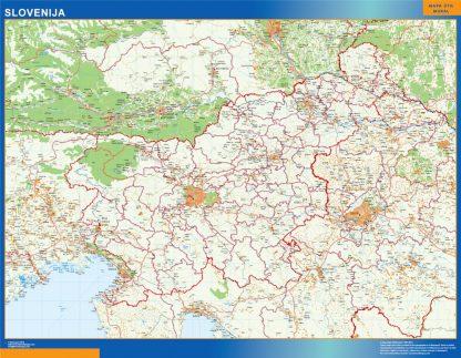 Mapa Eslovenia gigante