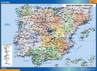 Mapa España simple gigante