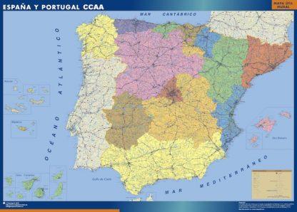 Mapa Espana Autonomias gigante