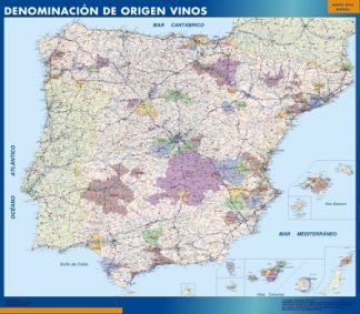 Mapa Espana Denominacion Origen Vino gigante