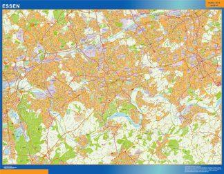 Mapa Essen en Alemania gigante