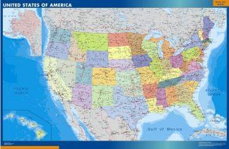 Mapa Estados Unidos de America gigante