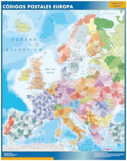 Mapa Europa Codigos Postales gigante