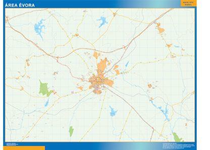 Mapa Evora área urbana gigante