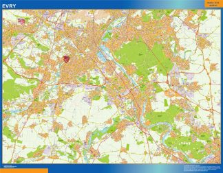 Mapa Evry en Francia gigante