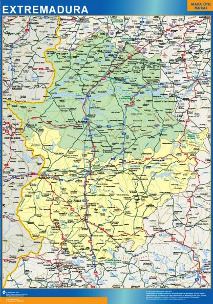 Mapa Extremadura provincias gigante