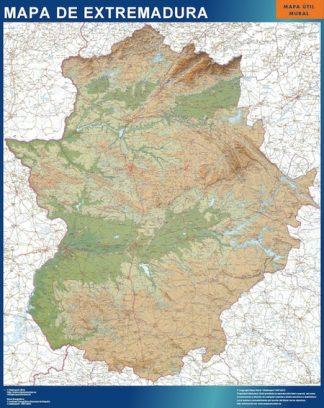 Mapa Extremadura relieve gigante