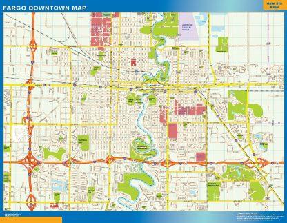 Mapa Fargo downtown gigante