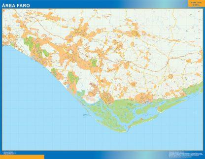 Mapa Faro área urbana gigante
