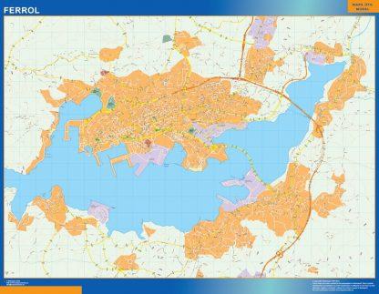 Mapa Ferrol callejero gigante