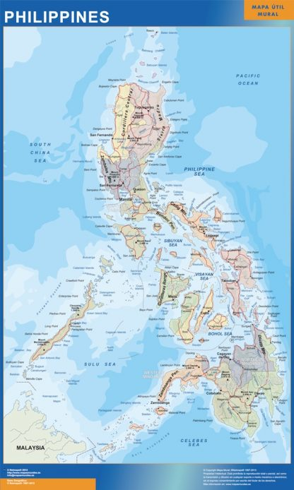 Mapa Filipinas gigante