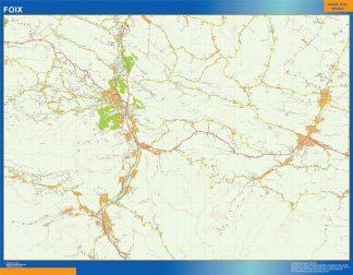Mapa Foix en Francia gigante