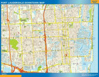 Mapa Fort Lauderdale downtown gigante