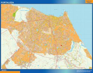Mapa Fortaleza Brasil gigante