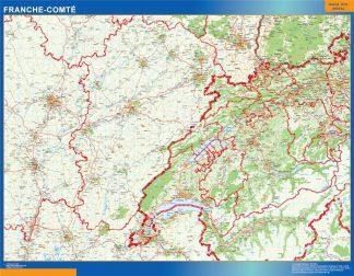 Mapa Franche Comte en Francia gigante
