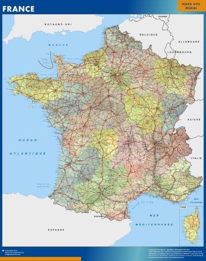 Mapa Francia gigante