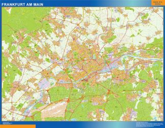 Mapa Frankfurt Am Main en Alemania gigante