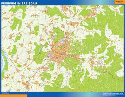 Mapa Freibug Im Breisgau en Alemania gigante