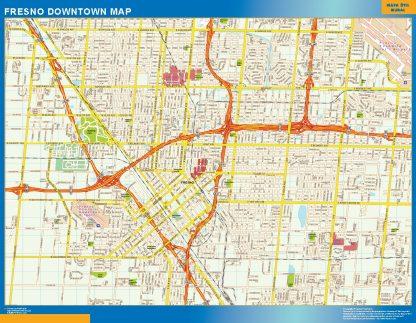 Mapa Fresno downtown gigante