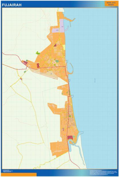 Mapa Fujairah gigante
