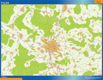 Mapa Fulda en Alemania gigante