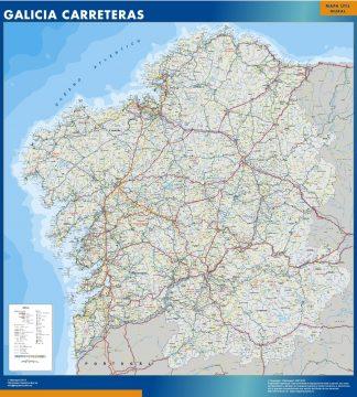 Mapa Galicia carreteras gigante